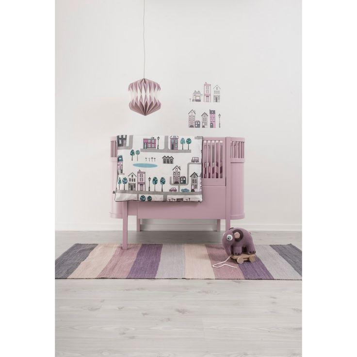 Sebra Village Dekbedovertrek 140 x 100 cm - Roze | Meubels en woonaccessoires online