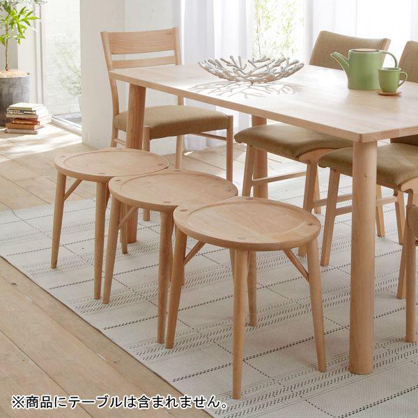 メープル材のスツール 通販 【ニッセン】 スタイルで選ぶ(家具・ソファー) 北欧風家具