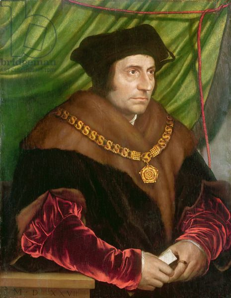 Portrait of Sir Thomas More (1478-1535) (oil on panel), Holbein the Younger, Hans (1497/8-1543) (after) / National Portrait Gallery, London, UK / Bridgeman Images