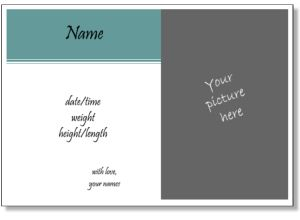 Best Birth Announcement Images On   Cards Births And