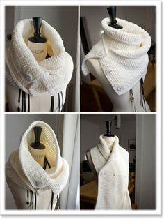 C'est rapide à faire parce que ça se tricote avec de la grosse laine et de grosses aiguilles (7mm). Ça ne m'a pris que trois soirées.