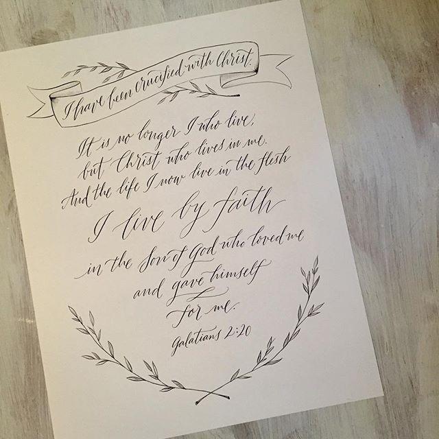 Custom calligraphy of galatians by paperglaze