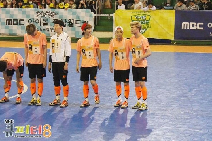 Luhan, Xiumin and Minho in MBC's Idol Futsal Championship Blog Update #6