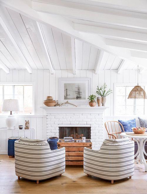 11 charming living room ideas to inspire you beach house coastal rh pinterest com