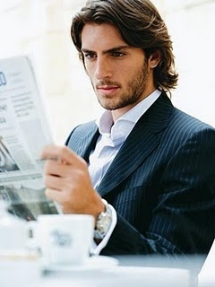 Rafael Lazzini. I want his beard together with that awesome hairstyle. Plus that pin-stripe suit and white shirt.
