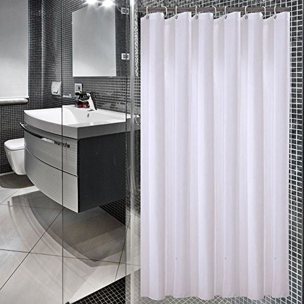 Sfoothome 72 Inch Wide X 78 Inch Long Hotel Fabric Shower Curtain