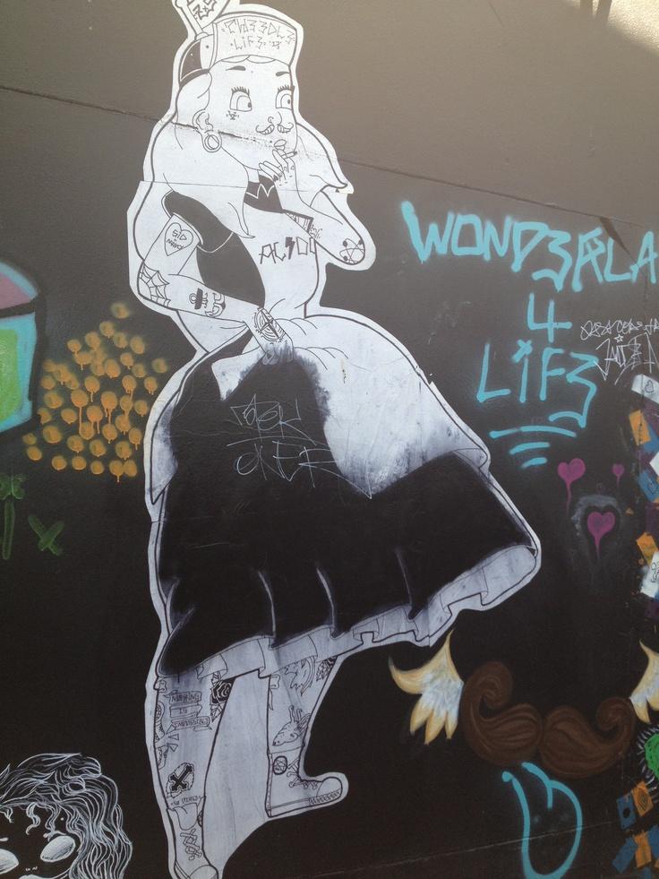 #Street Art #Mackay QLD Australia - Easter Laneway Festival - Lane 5 - Alice in Wonderland  http://www.dailymercury.com.au/news/wonderland-festival-fun/1775660/