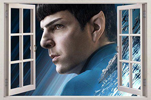 Star Trek Beyond Spock Window 3D Decal Graphic Wall Sticker Art Mural H532