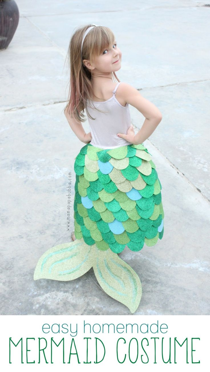 adorable homemade mermaid costume this would be great for pretend play - Mermaid Halloween Costume For Kids