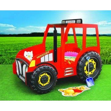 Traktor łóżko samochód dla dzieci czerwony