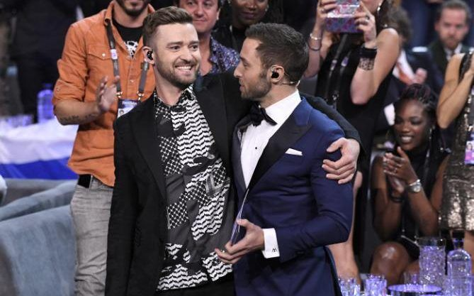 Justin Timberlake and Mans Zelmerlow at the rehearsals for The Eurovision Song Contest 2016 #eurovision #eurovision2016 http://www.casinosolutionpro.com/eurovision-betting-odds.html