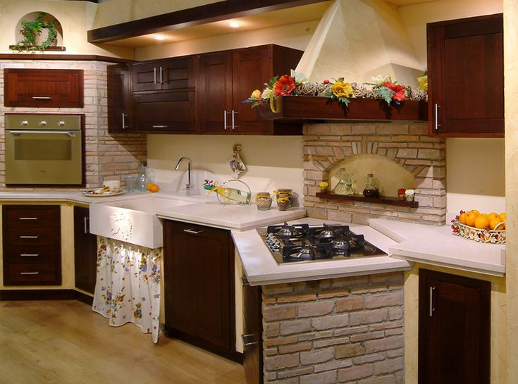 Oltre 25 fantastiche idee su cucine rustiche su pinterest cucina rustica mobili rustici da - Cucine country in muratura ...
