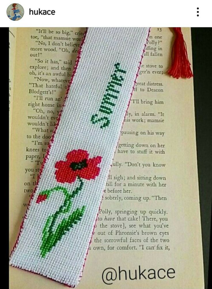 Etamin Kitap Ayracı #etamin #kitapayraci #gelincik #poppy #bookmark #crossstitch #hukace