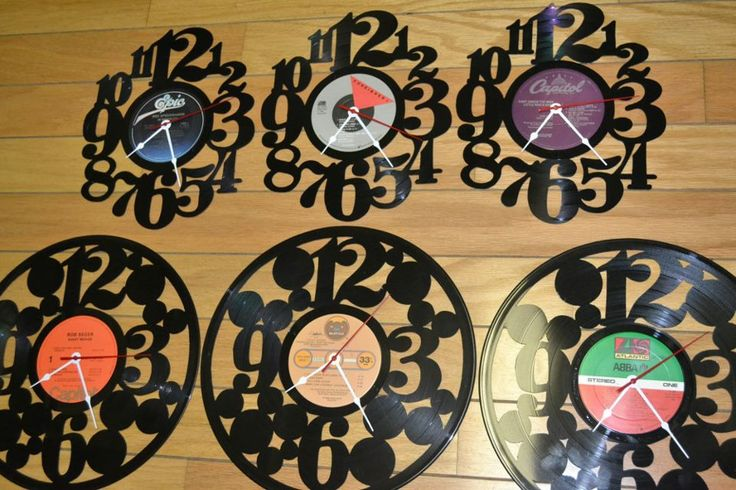 Super cool clocks we got in at Instrumental Music Center made out of old records!