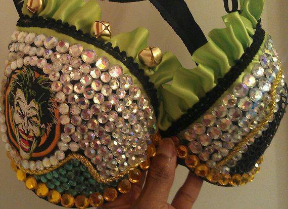 EDC bra Joker theme bra you take your pick two by Smokinghotdivas, $85.00