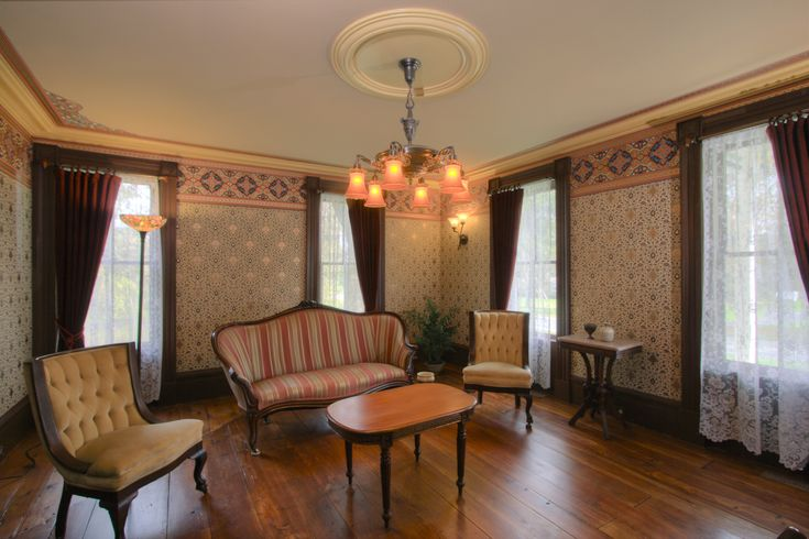 A 1850s victorian parlor across the center hall from the for Parlor or living room