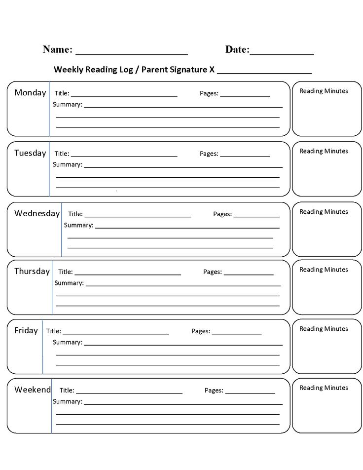 Best 25+ Weekly reading logs ideas on Pinterest Reading record - daily log templates word