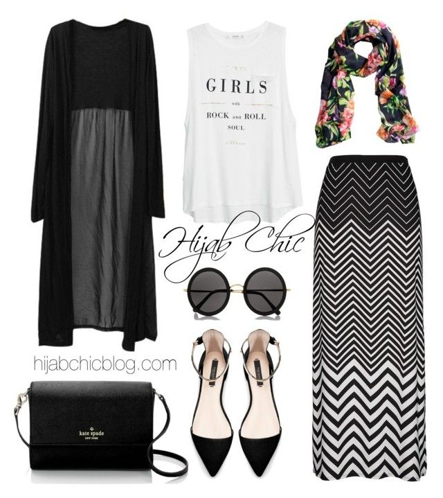 """hijabchicblog.com"" by hijab-chic on Polyvore featuring MANGO, H&M, The Row, Kate Spade and Zara"