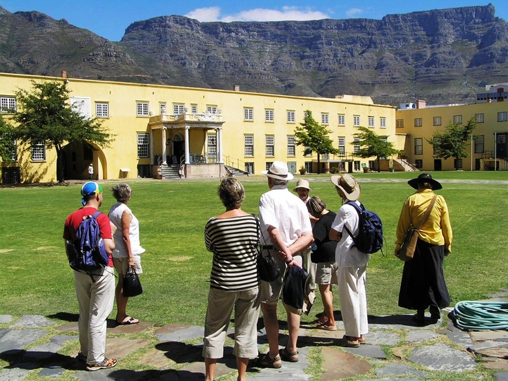 On tour in Castle of Good Hope with historical tour guide extraordinaire: Carline Dralle