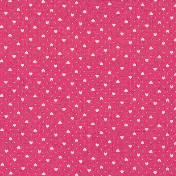 FQ0684 Small Hearts PINK - Basics – Makower