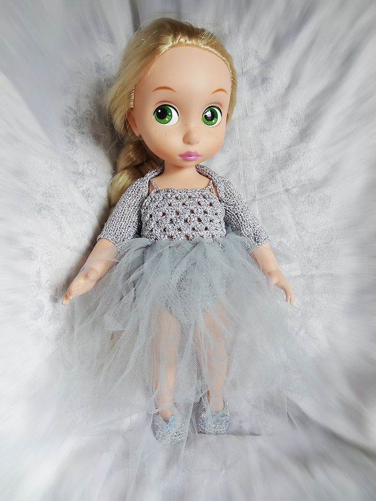 Rapunzel as ballerina Disney Animators doll. Dress, shoes, bolero was made by ewick. https://www.etsy.com/listing/267838887/tutu-dress-bolero-and-shoes-for-disney