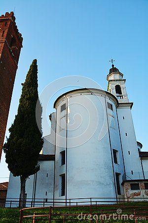 Beautiful church in Castelfranco Veneto, in Treviso, Italy.