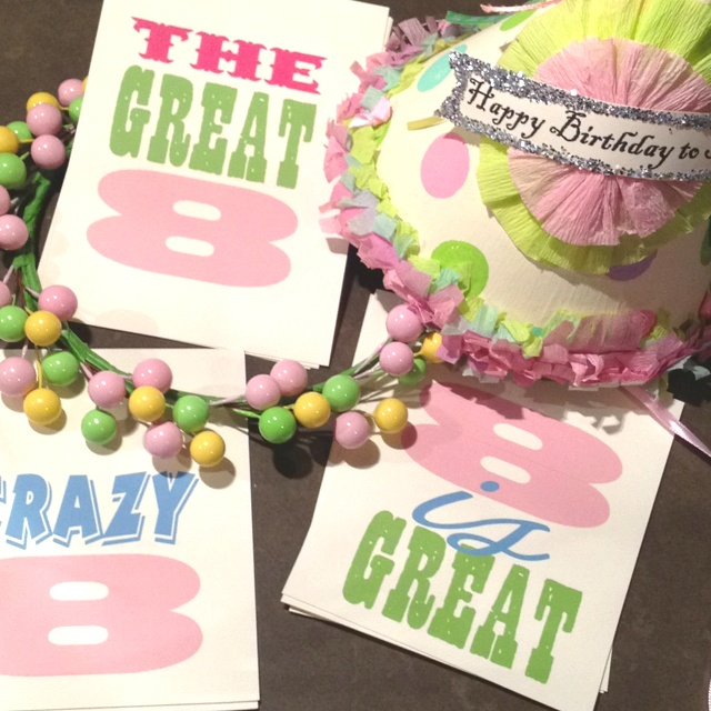 7 best 8 Is Great Party images on Pinterest 18th birthday ideas