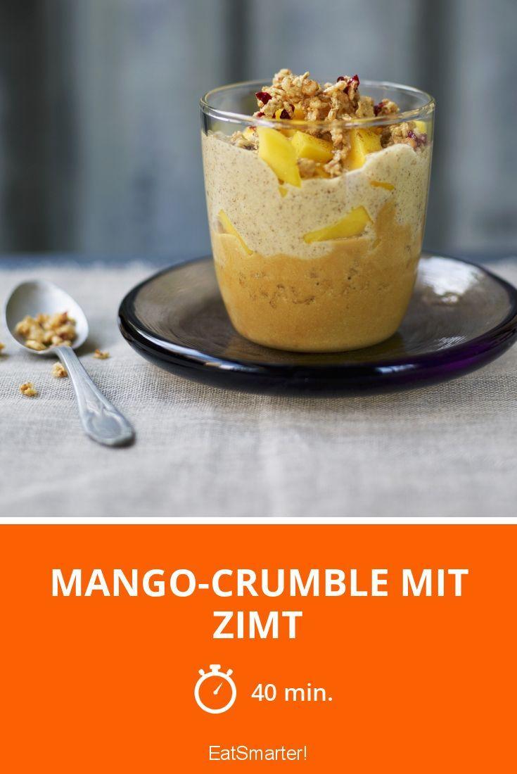 Mango-Crumble mit Zimt
