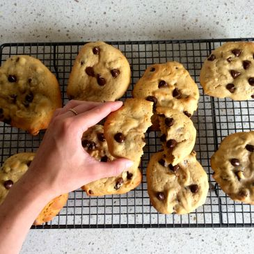 the ULTIMATE choc chip cookie now up on the blog! Chewy, soft and melty chocolate in the middle...mmmmm