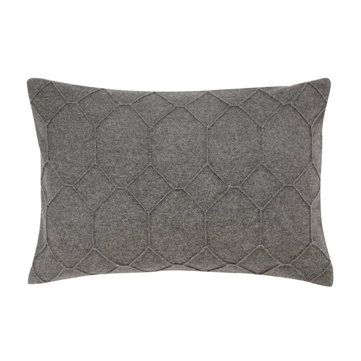 Hübsch kussen grijs wol (40 x 60 cm) - www.der10design.nl - Scandinavische woonaccessoires