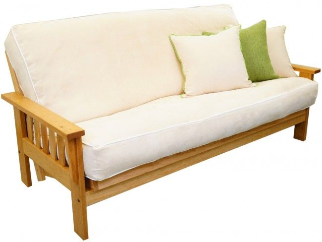 Cornerstone Wood Amish Flat Arm Shaker Futon Frame Oak