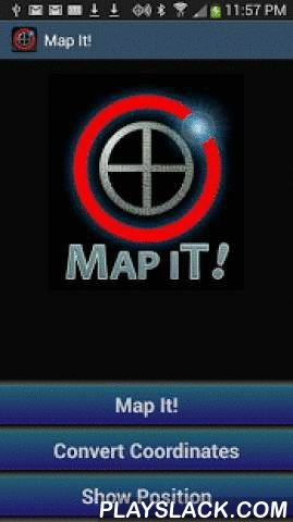 Map It! Address & Coordinates  Android App - playslack.com , Enter an address or coordinates in just about any format and Map It! Supports voice entry and accepts:* Latitude / Longitude (any format)* UTM (Universal Transverse Mercator)* MGRS (Military Grid Reference - USA and NATO)* Maidenhead (For Ham Radio enthusiasts)Get distance to any location and convert easily between multiple coordinate formats.Several map types are included: satellite / aerial maps, topographic maps / terrain maps…