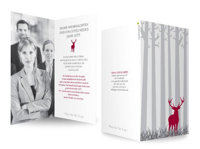 Gesch ftliche weihnachtskarten im walde diese ganz for Weihnachtskarten personalisiert
