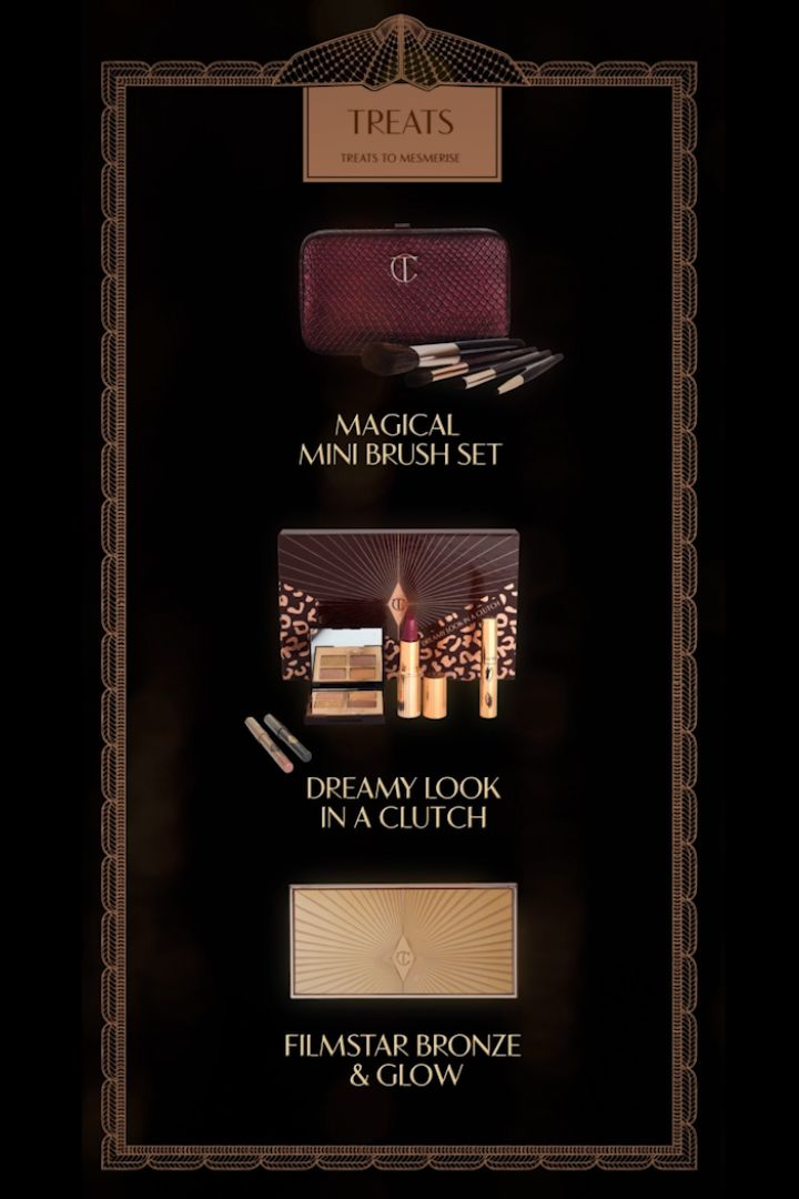 Gorgeous gifts for to treat yourself or someone your love from #Ctilbury The Filmstar Bronze and Glow is a permanent item, you can purchase it with the brush or on it's own, the Dreamy Look Set is still available at #Beautylish as is the Brush Set!
