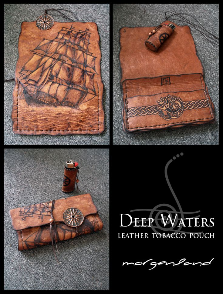 Deep Waters tobacco pouch by morgenland.deviantart.com on @deviantART