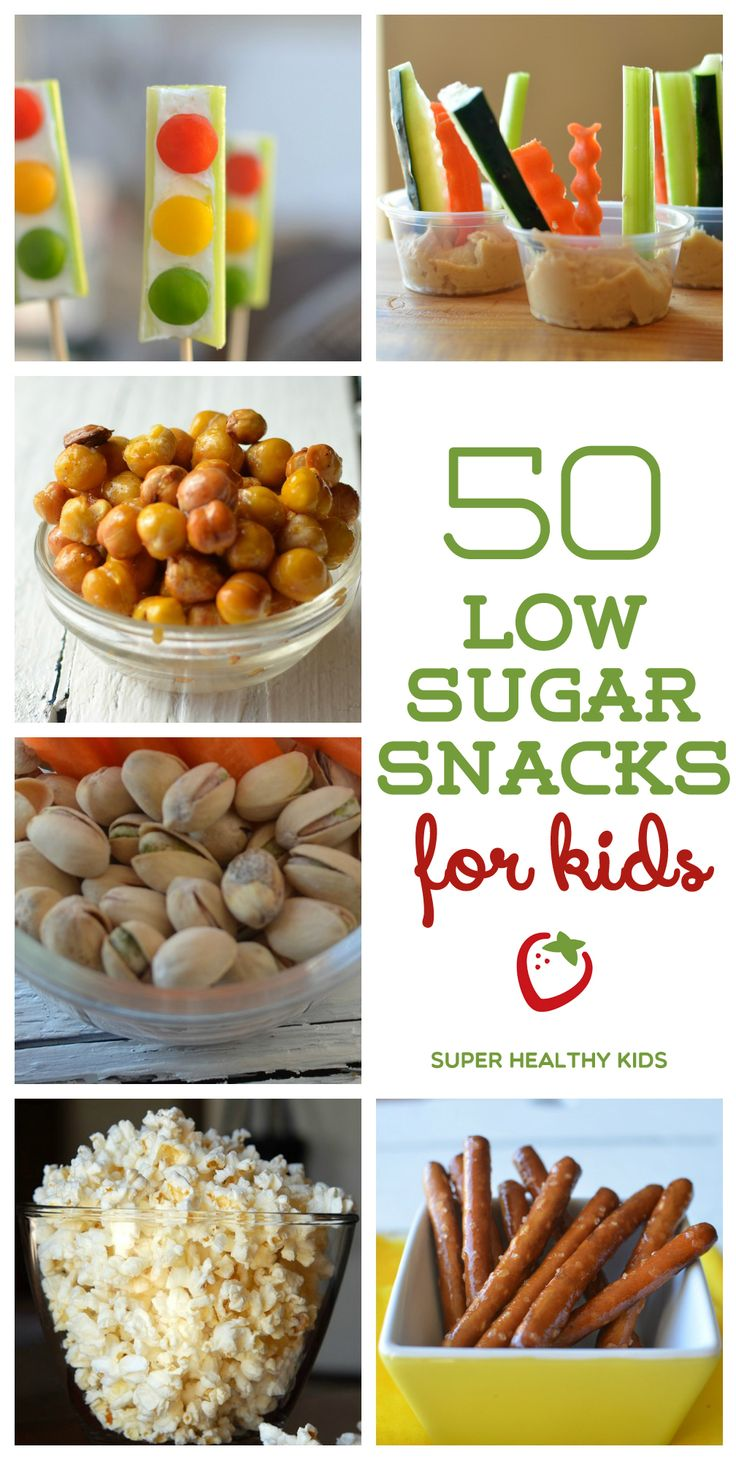 This is the best list I've ever seen! 50 low sugar snack ideas that kids will love. www.superhealthykids.com
