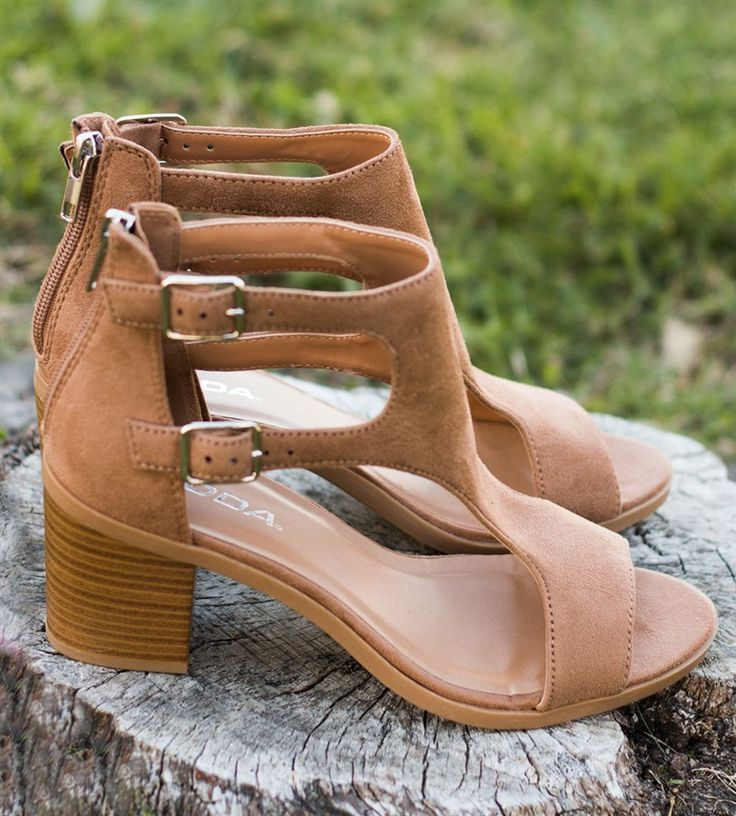Cute Spring Heel Sandals | 4 Colors