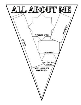 All About Me Banner- What a great way to decorate the classroom at the beginning of the year!