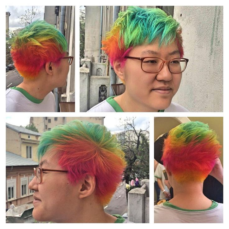 Rainbow hair with J Beverly Hills Fashion Colors
