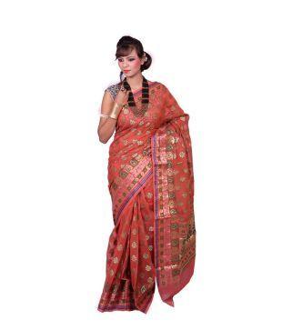 Silk Works Multi Color Cotton Silk Saree