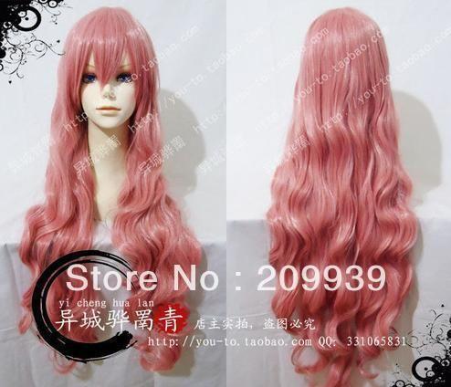 Кк 00110 VOCALOID Лука косплей парики длинные волнистые волосы парик + подарок 4.29