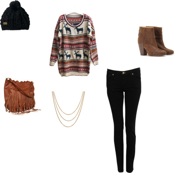 """Tenue d'hiver."" by lddsd ❤ liked on Polyvore"