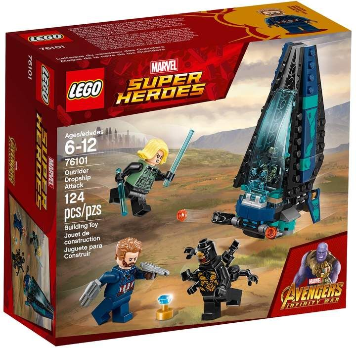 Lego Super Heroes Outrider Dropship Attack Set 76101 Lego Marvel Super Heroes Marvel Avengers Movies Lego Super Heroes