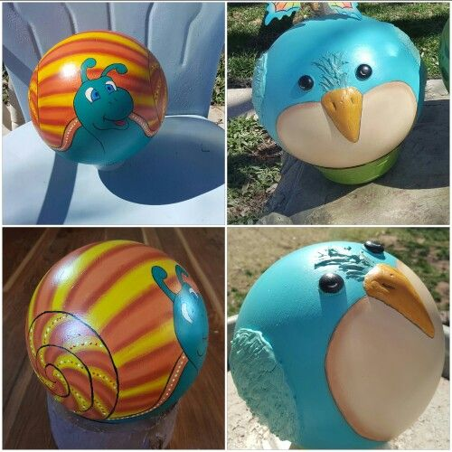 More of my bowling balls that I done..