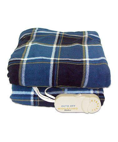 Look at this #zulilyfind! Blue Plaid Comfort Knit Electric Throw Blanket by Biddeford Blankets, $40 !!   #zulilyfinds