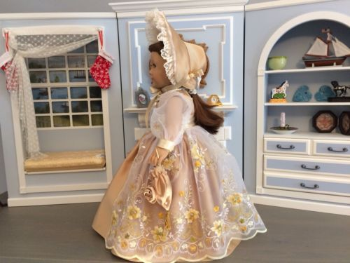 VICTORIAN-YELLOW-DRESS-amp-ACCESSORIES-FOR-18-034-AMERICAN-GIRL-DOLL-FELICITY