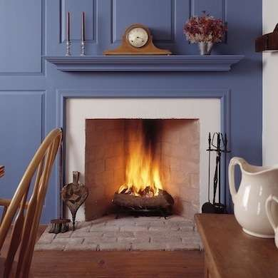 Rumford fireplaces are tall and not very deep, which allows them to reflect most of the heat generated by burning wood back into the room.