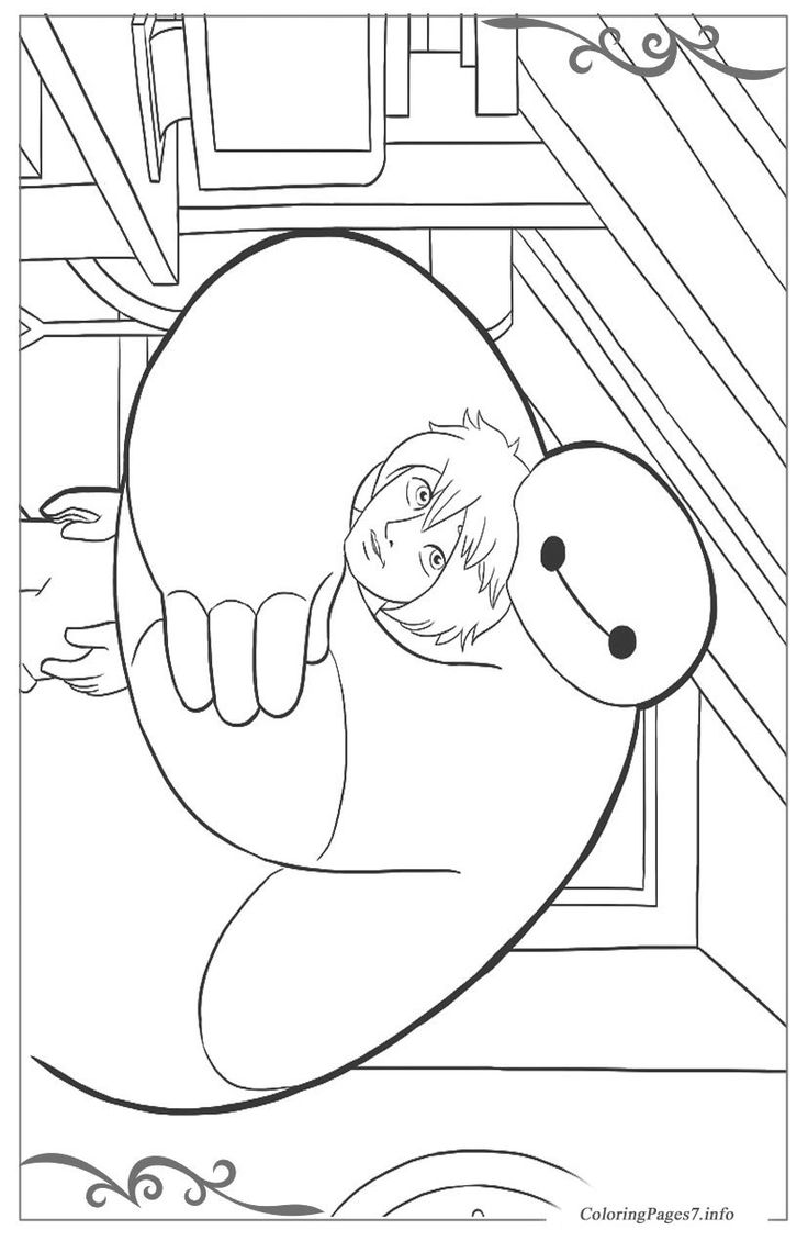 Big Hero 6 Printable Coloring Pages for Kids