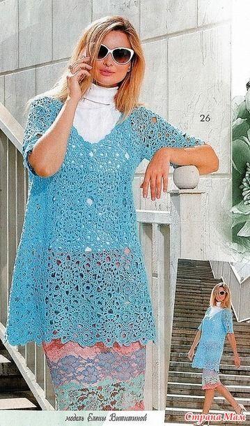 Этот джемпер свободного силуэта с большим вырезом и короткими рукавами связан из красивых мотивов. Смотрится нежно и воздушно! Журнал мод №609