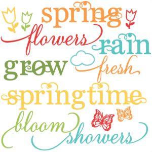 Spring Words set (freebie)